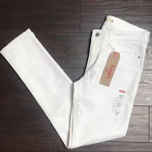 New Levi's 711 Skinny White Jeans